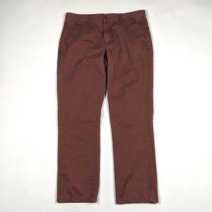 Gap Khakis Lived in Slim 36 X 30 Cinnamon Stick